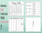 A4 size Midori Printable Inserts - PlannerGrid: unique grid system for different layouts. Month! Week! Vertical! Year! 2016! 2017! 2018!