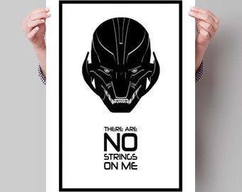 "AVENGERS: AGE of ULTRON Inspired Ultron Minimalist Movie Poster Print - 13""x19"" (33x48 cm)"