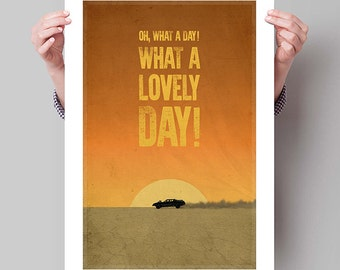 MAD MAX Fury Road Movie Poster, Minimalist Movie Posters, Large Wall Art, Typography, Quote, College Student Gift Dorm Decor, Gift for Him