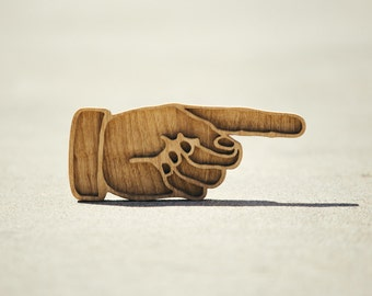 Handcrafted Finger Pointing Hand