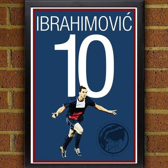 Zlatan ibrahimovi 10 psg soccer poster 8x10 13x19 print for Chambre 8x10