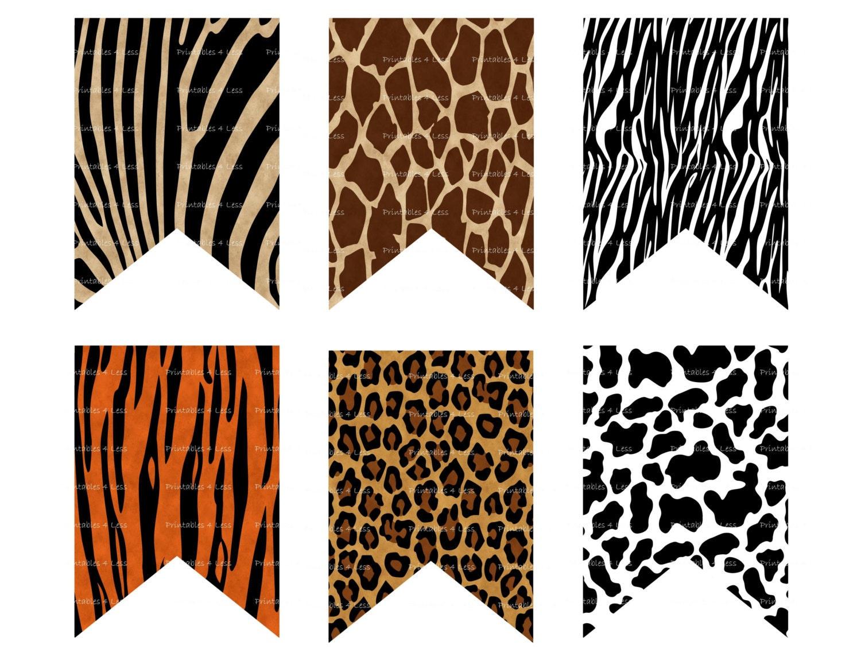 Leopard Print Party Decorations Animal Print Banner Wild Animal Banner Safari Banner Jungle