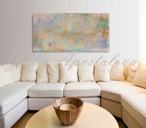 Watercolor Painting Pastel Colors Wall Art Print Home
