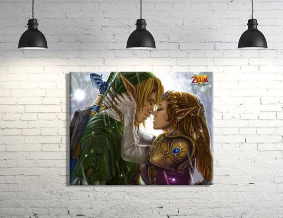 Zelda Wall Decoration : The legend of zelda canvas wall art measures by