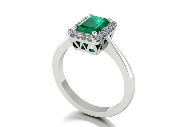 wedding and engagement rings genuine emerald and by