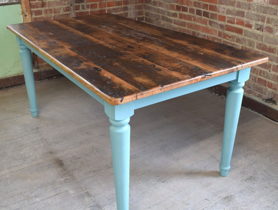 handmade farm table reclaimed chestnut kitchen farm table handmade in nc custom 9486