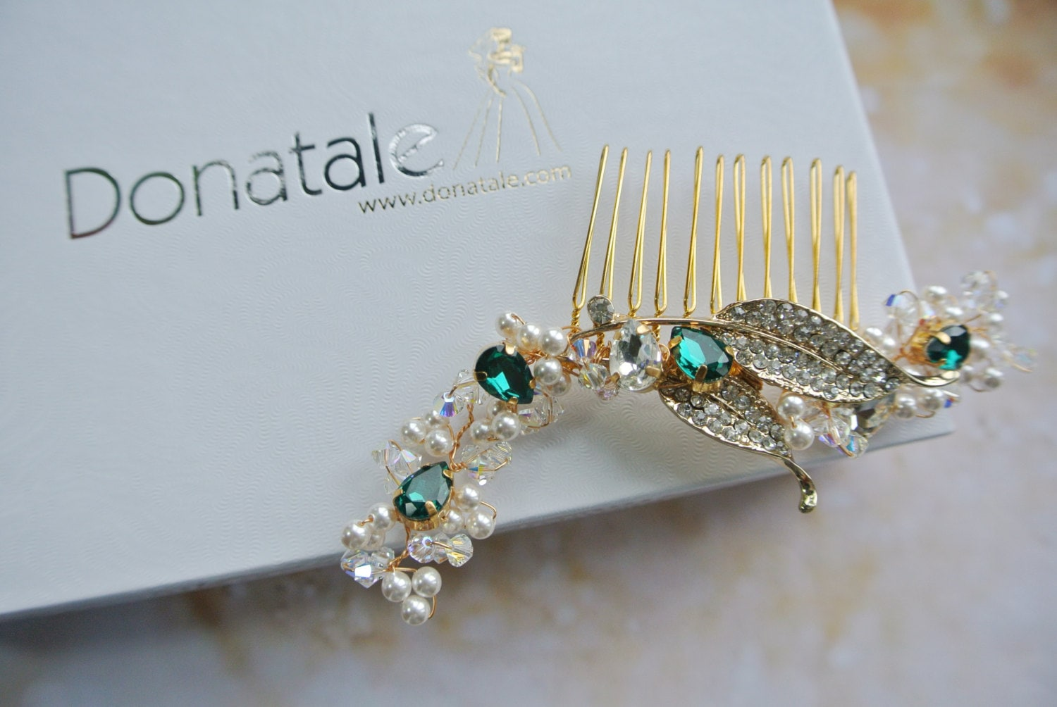 Emerald Green Bridal Hair Accessories - Like this item