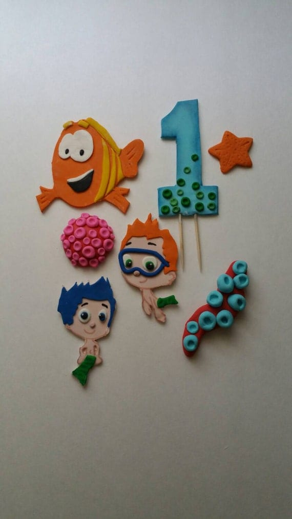 bubble guppies cake toppers guppies fondant cake toppers 2100