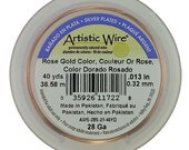 Artistic Wire Rose Gold 28ga - 40 Yard Spool  (WR32128)