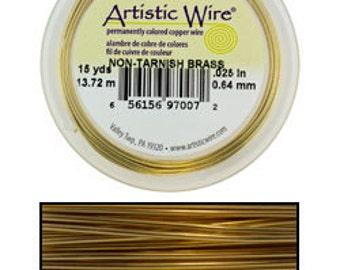 Artistic Wire Tarnish Resistant Brass 24ga - 20 Yard Spool  (WR33624)