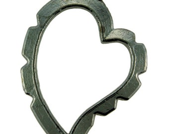 Wrapper Curved Heart by Artistic Wire Hematite Color (Pkg of 5)  (810HC-05)