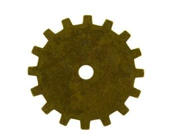 Trinity Brass Spoke Gear 19mm Vintage Patina (Pkg of 6)  (MSBT56424)