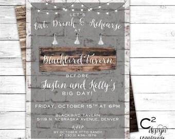 Brick & Board Rustic Invitation