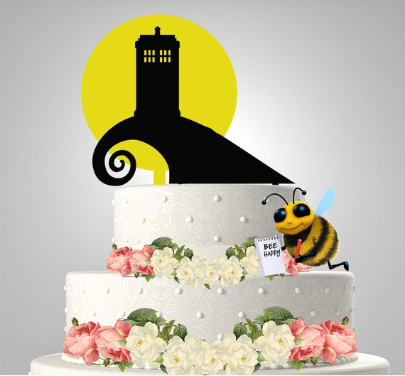 night before christmas wedding cake toppers tardis before cake topper by bee3dgifts on etsy 17889
