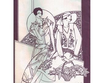 Folkwear 214 Sewing Pattern 1927 Tea Frock Dress Size:  8-14  Uncut