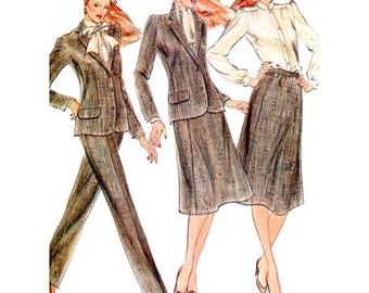 Butterick Sewing Pattern 3325 Misses' Jacket, Blouse, Skirt, Pants  Size:  14  Uncut