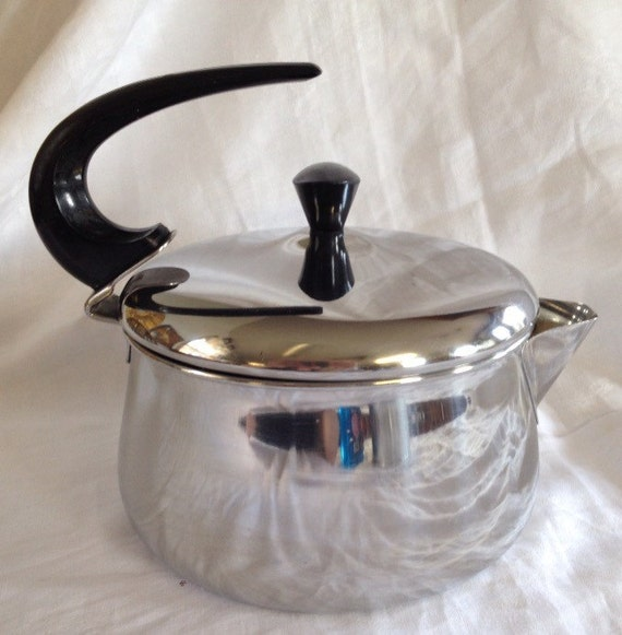 retro tea kettle retro stainless steel faberware tea kettle tea pot 1949