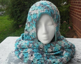 CUSTOM - YOU CHOOSE Color Infinity Scarf with Hood - Scoodie - Hooded Cowl