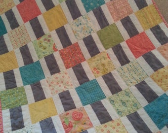 Sweet and Modern Baby Quilt
