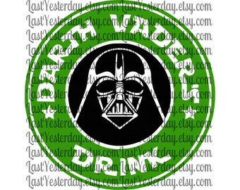 Darth Vader Drink DIGITAL DOWNLOAD svg dxf jpg png