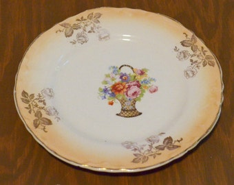 Sale - Thompson Francis 6 inch Plate, Basket of Flowers
