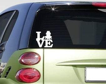 "Frog Love 6"" Sticker *F184* Decal Toad Hop Lilypad Pond Bullfrog Legs Treefrog"