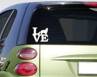 """Aussie Love 6"""" Sticker *F237* Decal Mini Aussie Australian Shepherd Dog Breed"""