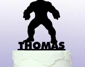 Personalised Hulk Superhero Cake Topper