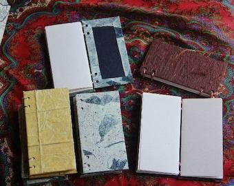 Rectangular notebook / sketchbook / address book / journal with coptic stitch binding