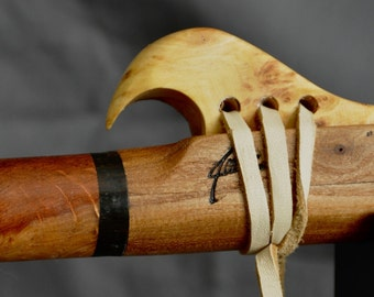 Native American Flute, Made of Hickory, in the key of E