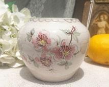 Mid Century Handmade Floral Vase, West German Ulmer Keramik, pot, planter, signed numbered, Retro glaze flower, pottery, decor, decorative,
