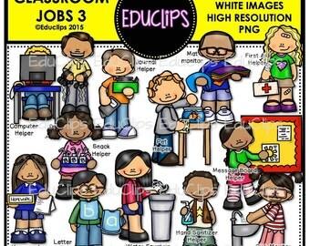 Classroom Jobs 3 Clip Art Bundle