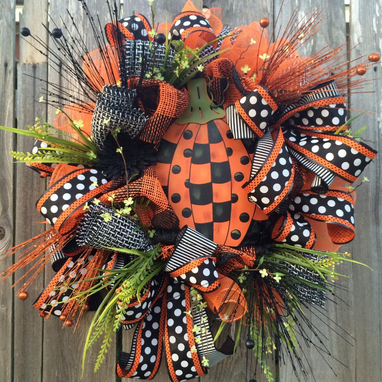 Halloween Wreath Halloween Mesh Wreath Halloween Door