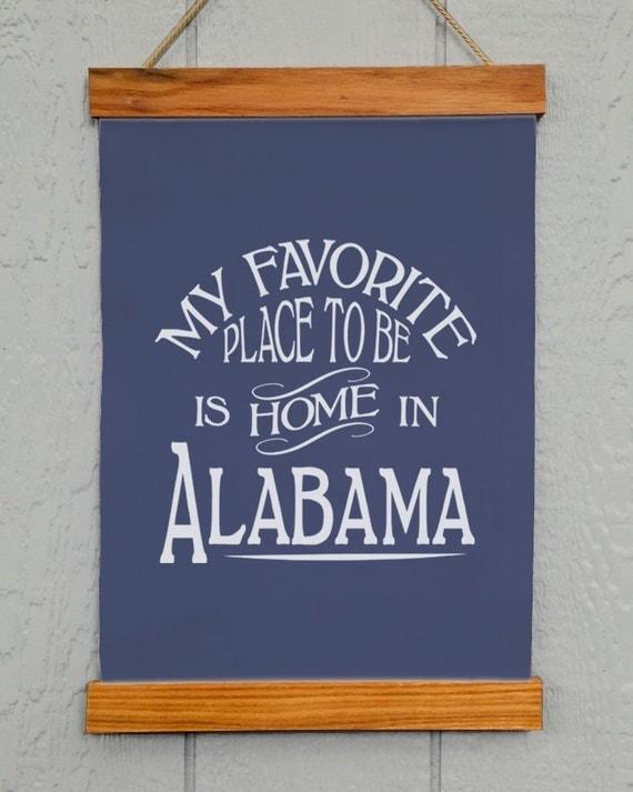 Alabama home decor alabama wall decor my favorite place to for Alabama football wall mural
