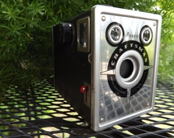 Vintage Ansco Craftsman Box Camera 1951