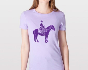 KillerBeeMoto: Western Woman On Work Horse Horse T-Shirt