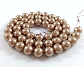 4mm 5810 BRONZE Swarovski Crystal Pearls 50pcs or 100pcs Small Round Pearls