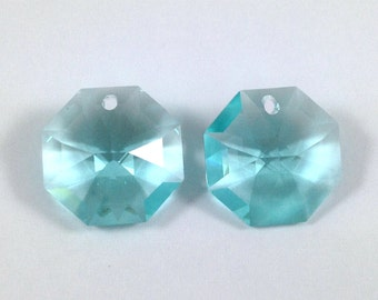 8115 ANTIQUE GREEN 14mm 4pcs Swarovski Crystal Strass Octagon Lily Pendant