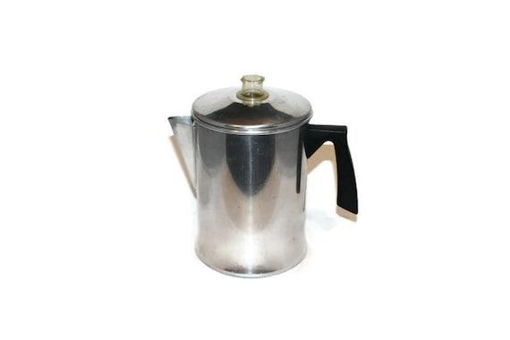 Mirro Percolator Coffee Maker : Vintage Mirro Aluminum 9 Cup Percolator Coffee Pot