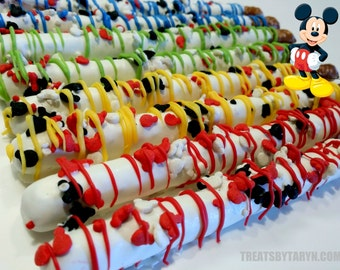 MICKEY Clubhouse chocolate covered pretzels