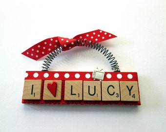 I Love Lucy Scrabble Tile Ornament