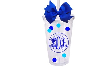 Personalized Monogram Tumbler Made to Order for any Occasion
