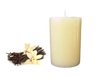 French Vanilla Scented Pillar Candle size 8 x 5.5 cm