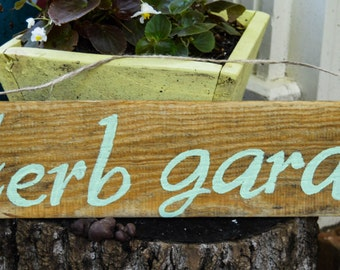 "Hand Painted ""Herb Garden"" Wood Sign"