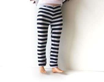 Lammily doll Leggings - Stretch cotton stripped leggings, lammily clothes