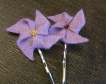 Pair of Pin Wheel Hairpins