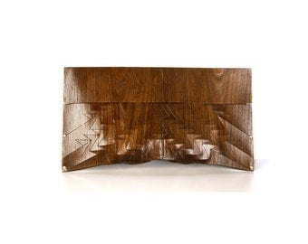 """eco-wood-clutch -  smoked chestnut - """"chestnut tree"""" - in brown"""