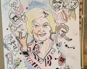 Mike Denison Sketchbook 1 of 33 with original Betty White sketch