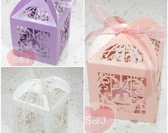 20pcs Birdcage Hollowed Wedding/Birthday/Party Bomboniere/Favour Boxes with Ribbon
