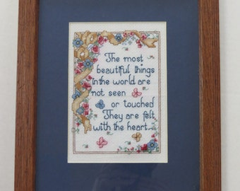 The Most Beautiful Things Cross stitch